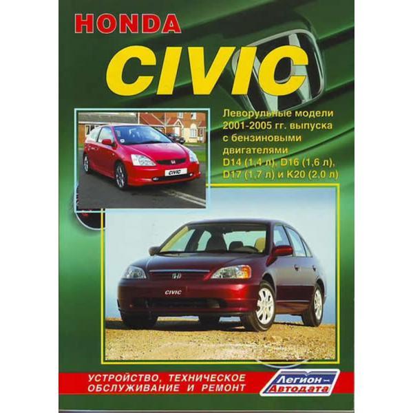 Руководство по ремонту и обслуживанию автомобиля хонда